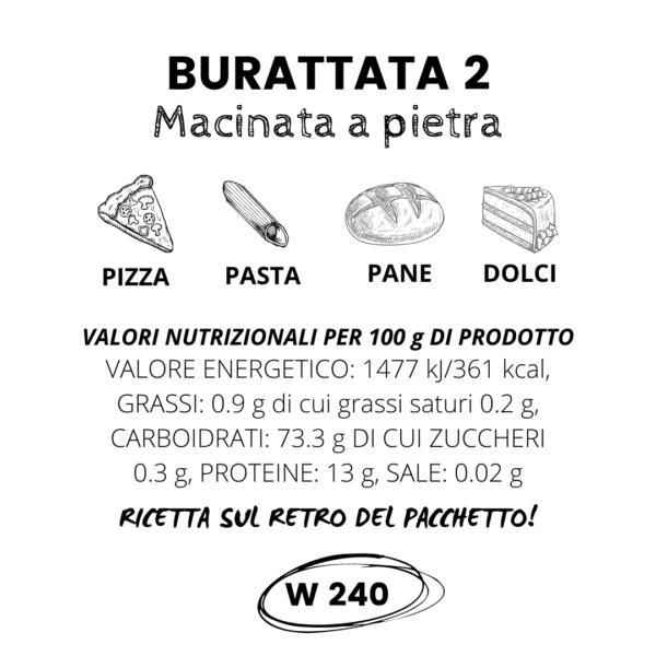 Farina Burattata 2 Macinata a Pietra