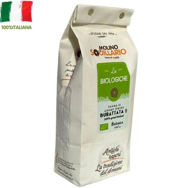 Farina di grano tenero Burattata 2 BIO - 100% grani italiani