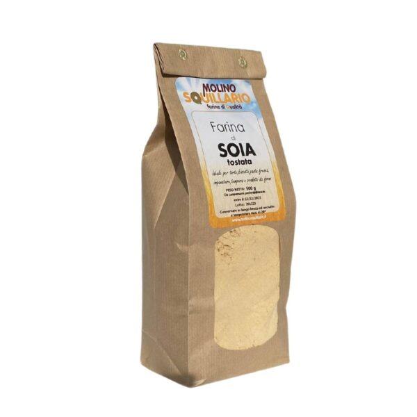 farina di soia tostata