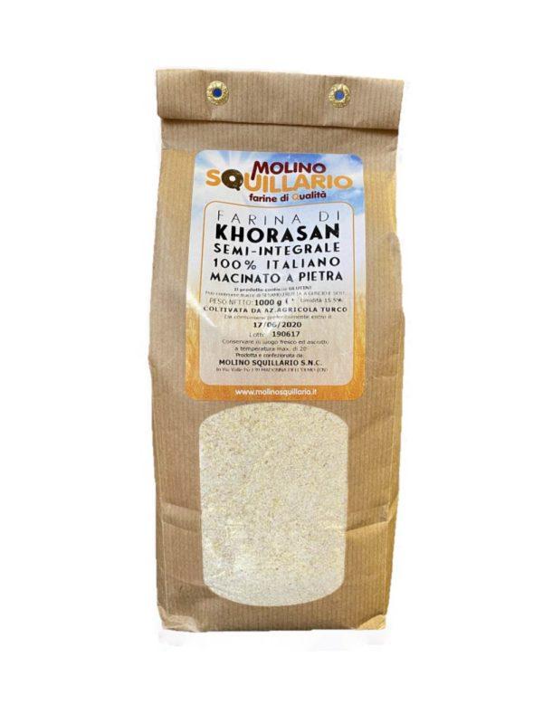 Farina di Grano Khorasan Semi-Integrale 100% Italiano