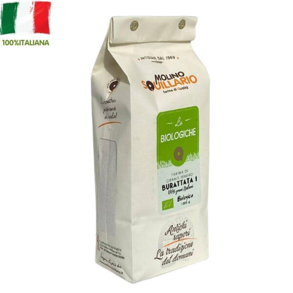 Farina di grano tenero Burattata 1 BIO - 100% grani italiani